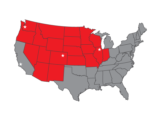 Interwest Paint Protection Territory Map