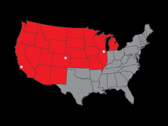 Interwest Window Film Territory Map
