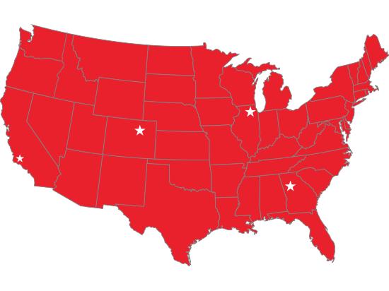 Interwest Training Territory Map